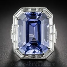 33.06 Carat No-Heat Ceylon Sapphire and Diamond Ring