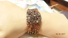 Bohemian Vintage Jewelry Bracelet Rootbeer Stretch by DLSpecialties on Etsy