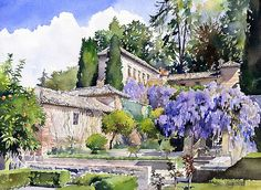 Gardens Of The Generalife Print By Margaret Merry