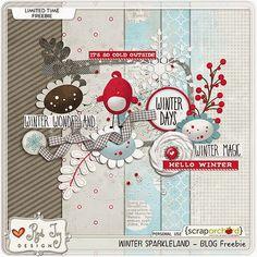 Quality DigiScrap Freebies: Hurry! Winter Sparkleland mini kit freebie from Red Ivy Designs