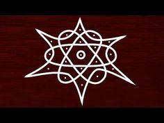 Simple geethala muggulu with dots - how to draw sikku kolam with dots - beginners rangoli Easy Rangoli Designs Videos, Rangoli Designs Latest, Simple Rangoli Designs Images, Rangoli Designs Diwali, Rangoli Designs With Dots, Beautiful Rangoli Designs, Latest Rangoli, Mehndi Designs, Rangoli Borders