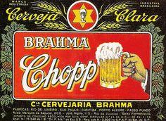 Rótulo antigo de cerveja brasileira