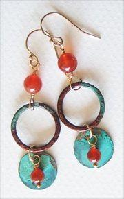 Handmade carnelian earrings #handmade #earrings  handmade-beaded-gemstone-jewelry.com/