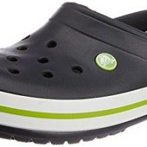 Crocs Unisex Crocband Onyx and Volt Green Rubber Clogs and Mules - M8/W10