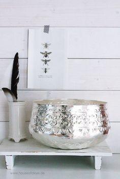 Orientalische Schale Metall Silber