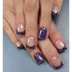 French Nail Art designs are minimal yet stylish Nail designs for short as well as long Nails. Here are the best french manicure ideas, which are gorgeous. French Tip Nail Designs, French Nail Art, French Tip Nails, Nail Art Designs, Nails Design, French Manicure With A Twist, French Polish, Purple Nail Designs, Design Art