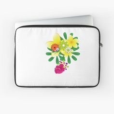 'flowers for you' Laptop Sleeve by Flowers For You, Buy Flowers, Laptop Sleeves, Pattern Design, Floral Design, My Arts, Art Prints, Printed, Awesome