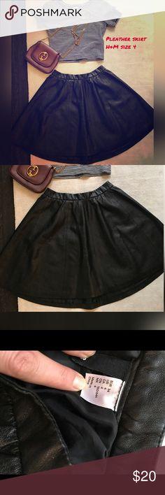 Black Pleather skirt Black pleather skirt Skirts Mini