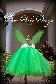 Tinker Bell inspired Birthday Dress or by DivaBabyDesigns on Etsy, $70.00