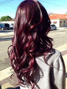 My beautiful hair thanks to Bree Martinez! #burgundy #hair #redviolet if you ladies live in the inland empire area she is located at serendipity salon in Redlands, Ca.