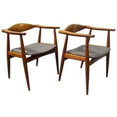 Pair of Ch-35 Chairs by Hans J. Wegner and Carl Hansen