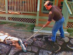 DYI Flagstone Patio: will it fix my uneven mess in the backyard?? we shall see...