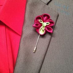 Pansy Lapel Pin  Burgundy and Green Pansy by DidiArtCorner on Etsy