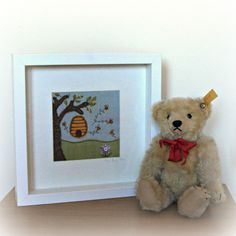 Busy Bee Framed Picture £21 http://folksy.com/items/5538881-Busy-Bee-Framed-Picture