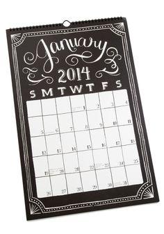 Sketch Me In 2014 Calendar | Mod Retro Vintage Desk Accessories | ModCloth.com // WANT!! for cubicle walls