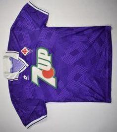 1991-92 AC FIORENTINA SHIRT M Football Kits, Football Cards, Football Jerseys, Football Players, Classic Football Shirts, Vintage Football Shirts, Everton Fc, Team Shirts, Legends