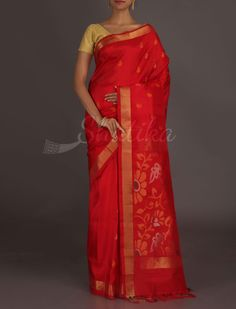 Maithali Thin Lace Border Blooming Pallu #RealZari #UppadaSilkSaree