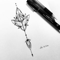 Tattoo • Flower • Drawing •