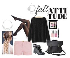 """Fall Attitude"" by laura-rathbone on Polyvore featuring Falke, Current/Elliott, NOVICA, Alexa Starr, Christian Dior and MAC Cosmetics"