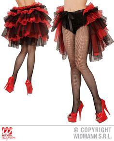 Burlesque Petticoat rot schwarz,Tutu Cabaret Damen Club Karneval