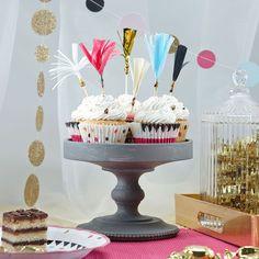 Muffinpicker für die Konfetti Party.