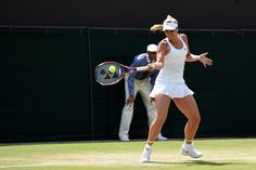 A forehand stroke by Sabine Lisicki in her fourth round match - Florian Eisele/AELTC