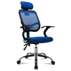 Multicolor Adjustable & Comfortable Mesh Seat Fabric Chrome Executive Office Computer Desk Chair (Orange): Amazon.co.uk: