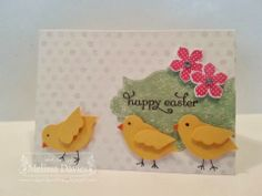 Stampin' Up! Easter Chickies w/ Bird Builder Punch by Melissa Davies @ rubberfunatics
