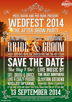 Festival Wedding Save The Date Cards | WEDFEST - http://www.wedfest.co/festival-wedding-save-the-date-cards/