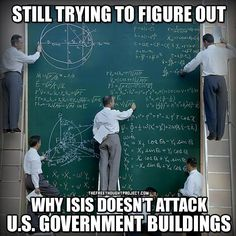 Hmmmm, there must be some reason ISIS doesn't attack our government. Let me think...