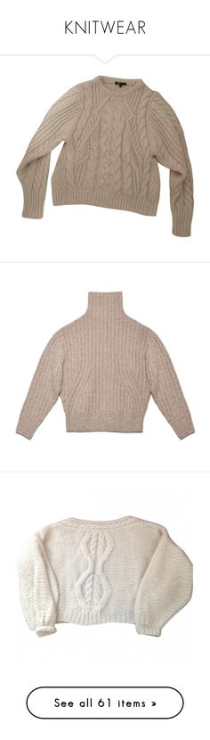 """""""KNITWEAR"""" by delighted-hearts ❤ liked on Polyvore featuring vintage, Sweater, knitwear, knits, tops, sweaters, maje jumper, jumper tops, brown sweater and jumpers sweaters"""