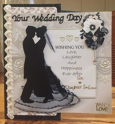 Wishing You Love Mini Kit on Craftsuprint created by Suzanne Kavanagh - Boxed wedding card for a Son