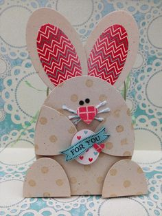 I found this on stampinup.com  This is actually attached to a basket! Too cute! Made with Stampin' Up Punches! Love Stampin' Up!