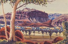 WALTER EBATARINJA (1915-1968) Central Australian Landscape - Price Estimate: $1000 - $1500 Australia, Landscape, Painting, Art, Art Background, Scenery, Painting Art, Kunst, Landscape Paintings