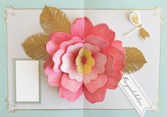Card Making Kits, Anna Griffin Cards, Pop Up Cards, Up Styles, Card Ideas, Apple, Flowers, Top, Crafts