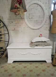 Painted Cottage Romantic Shabby White French Hope Chest