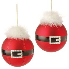 "4.5"" Santa Belt Ball Ornaments - Set of 2  http://www.amazon.com/dp/B00MN51J6O/ref=cm_sw_r_pi_dp_pk7pwb06CK5XF"