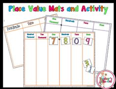 Free Place Value Mats and Activity for Reading Numbers