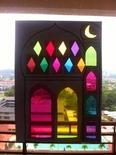 Masjid Sun Catcher Template