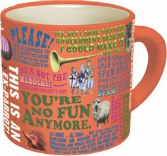 Amazon.com: Monty Python Quotes Coffee Mug - Quotes from The Flying Circus as Well as Monty Python's Best Movies - Comes in a Fun Gift Box - by The Unemployed Philosophers Guild: Kitchen & Dining