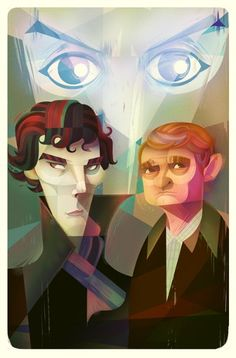 """""""Sherlock"""" illustration by Carlos Lerma. Related note: I just started watching Sherlock, and I am all in."""