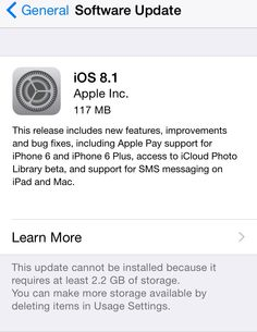 Apple has released iOS 8.1 recently in an a.....pple and you can update your iPhone by going to Settin....wer whether or not your iPhone is capable for new.
