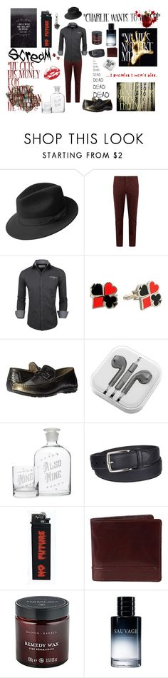 """Charles's Set #3"" by psycho-tsundere-fox ❤ liked on Polyvore featuring Bailey of Hollywood, AMI, Cufflinks, Inc., Stacy Adams, PhunkeeTree, Columbia, Dents, Christian Dior, Tod's and men's fashion"