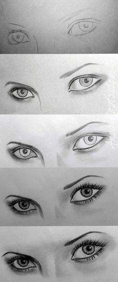 art drawings How To Draw An EYE - 40 Amazing Tutorials And Examples - Bored Art Realistic Eye Drawing, Drawing Eyes, Painting & Drawing, Drawing Women Face, Eye Pencil Drawing, Pencil Sketching, Sketching Tips, Life Drawing, Figure Drawing