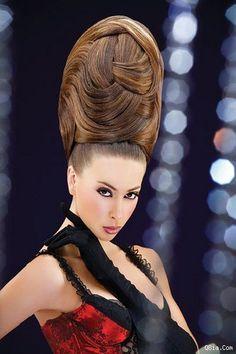 Formal Hairstyles For Long Hair, Sleek Hairstyles, Long Hair Styles, Gypsy Hair, Steampunk Hairstyles, Competition Hair, Wacky Hair, High Hair, Beehive Hair