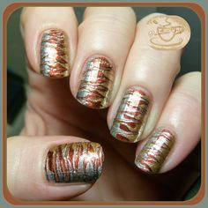 The Digit-al Dozen Does Metals: Day 5 - Metallic Toothpick Marble