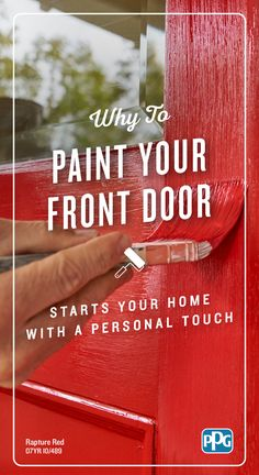 Give your front door a refresh. Painting the entire exterior of your house is quite the project to take on yourself, but you can transform the look of your home just by freshening the front door with…More Painting Tips, House Painting, Home Improvement Projects, Home Projects, Dark Countertops, Entry Way Design, Painted Front Doors, Exterior Paint Colors, Pergola Designs