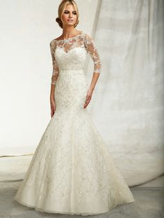 Pretty sleeves! Angelina Faccenda Wedding Dresses - Style 1260 #wedding #dresses