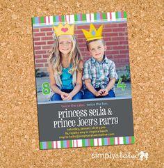 My Prince  Princess  custom kids birthday by SimplyStatedCreative