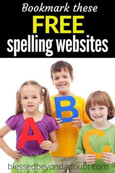 The TOP 10 FREE Spelling Websites Online Spelling Test, Spelling Help, All About Spelling, Spelling Rules, Spelling Lists, Spelling Activities, Online Homeschool Programs, School Closures, Educational Websites